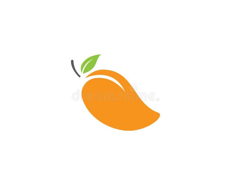 Icône de logo de vecteur de mangue illustration stock