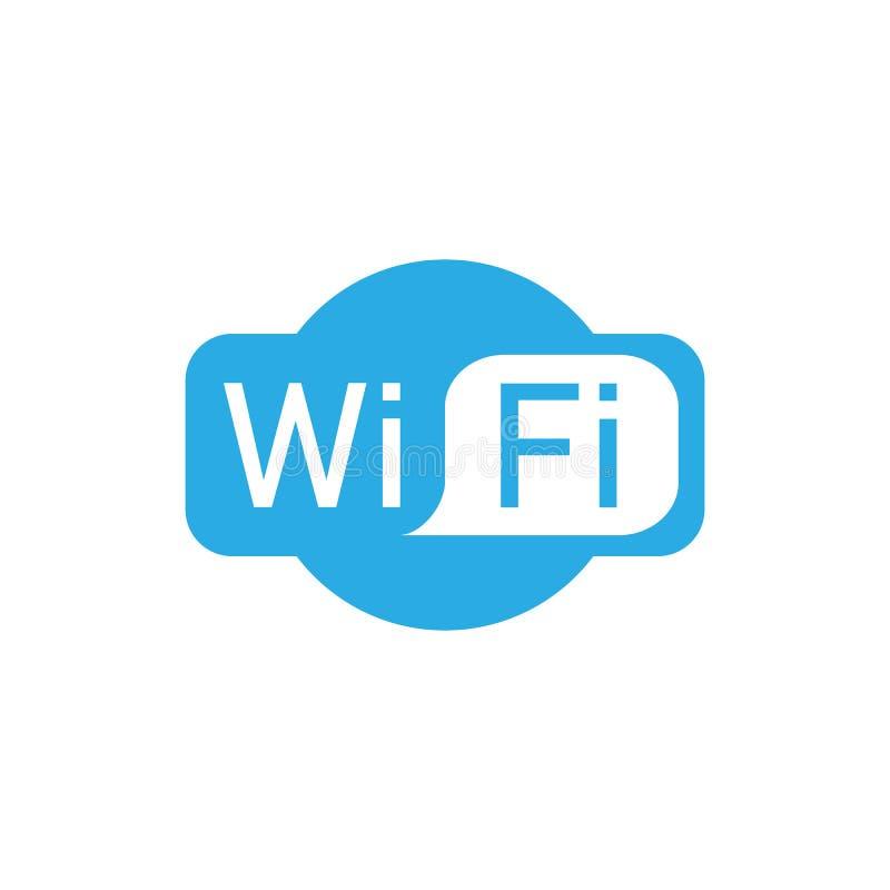 Icône de logo de Wifi Illustration de vecteur, conception plate illustration de vecteur