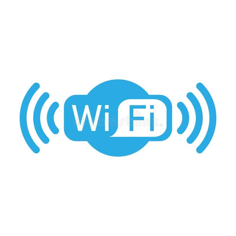 Icône de logo de Wifi Illustration de vecteur, conception plate illustration libre de droits