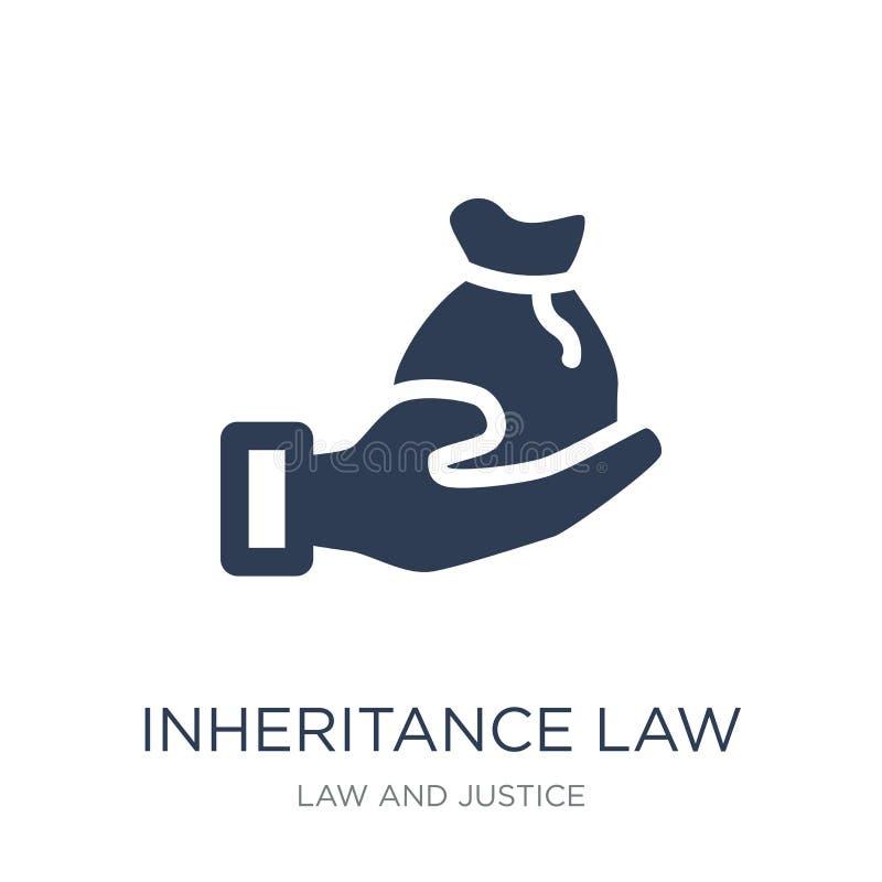 icône de loi d'héritage Icône plate à la mode de loi d'héritage de vecteur dessus illustration stock