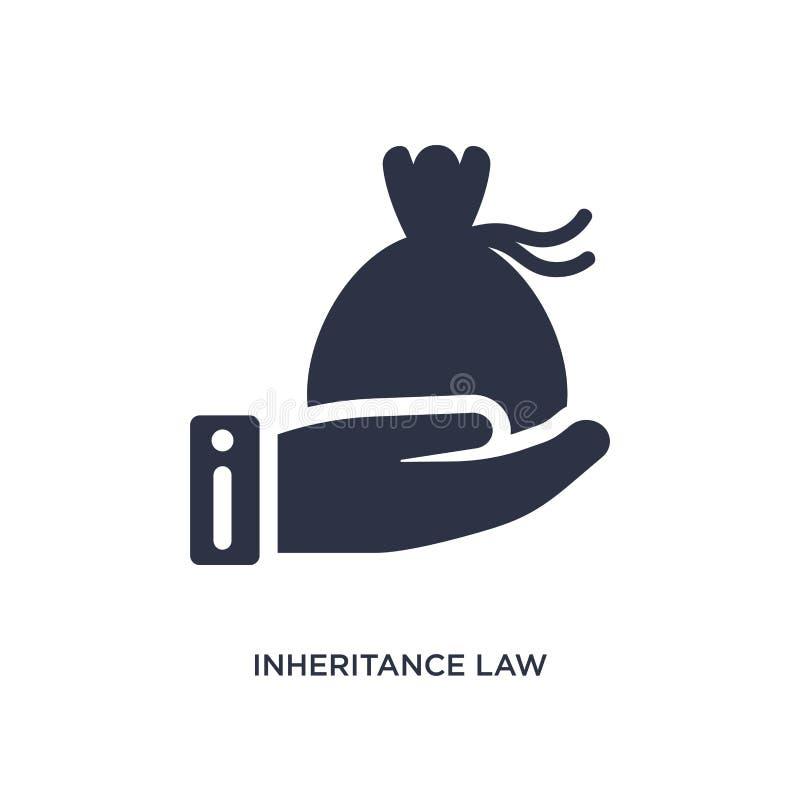 icône de loi d'héritage sur le fond blanc Illustration simple d'élément de concept de loi et de justice illustration libre de droits
