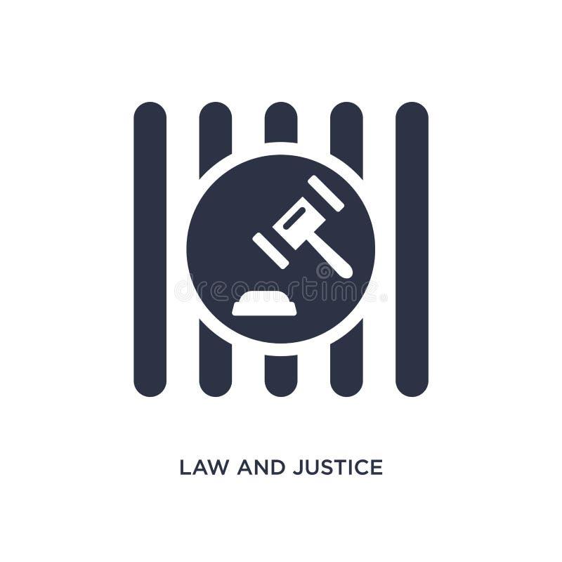 icône de loi et de justice sur le fond blanc Illustration simple d'élément de concept de loi et de justice illustration libre de droits