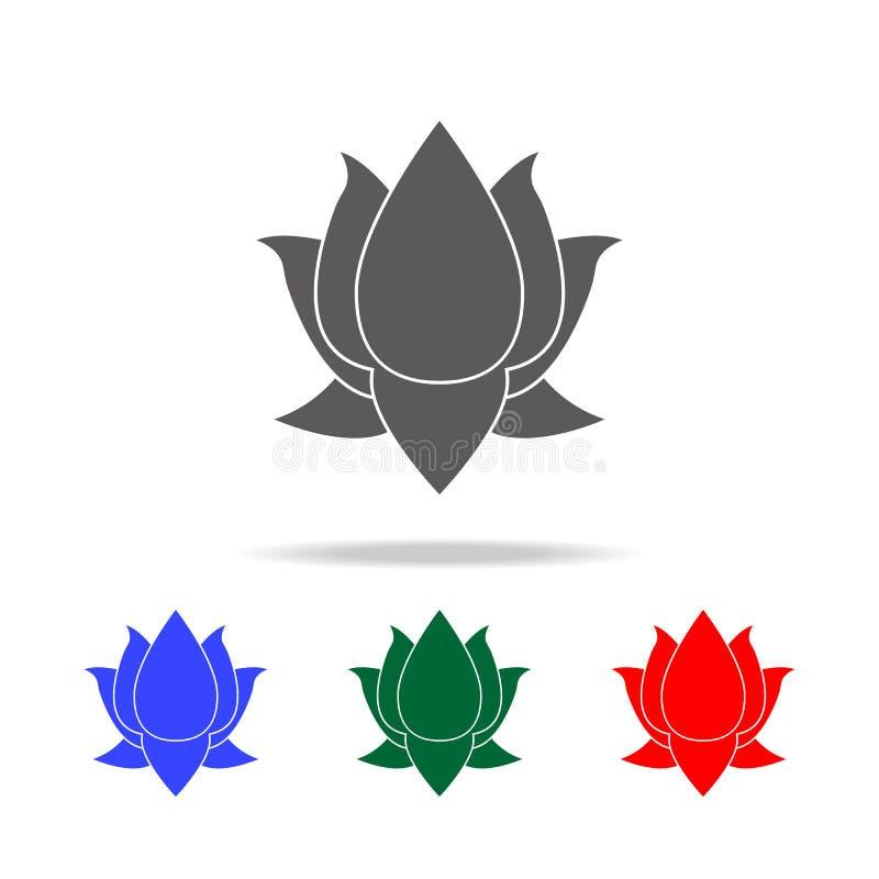 Icône de Lotus Éléments des icônes colorées multi de culture indienne Icône de la meilleure qualité de conception graphique de qu illustration stock