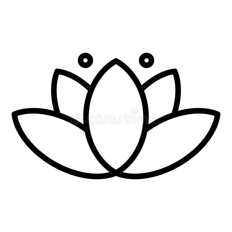 Icône de lotus de beauté, style d'ensemble illustration de vecteur