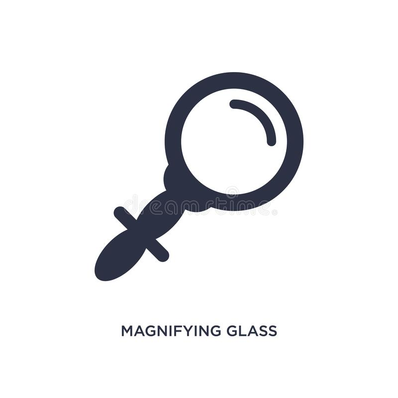 Icône de loupe sur le fond blanc Illustration simple d'élément de concept de l'éducation 2 illustration de vecteur