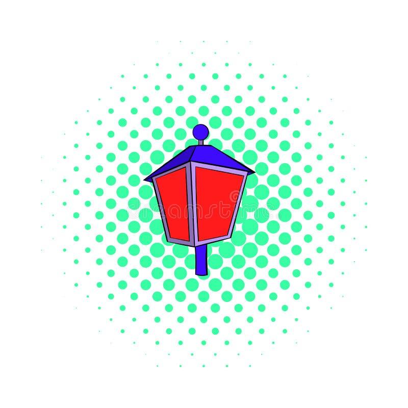 Icône de lumière rouge, style de bandes dessinées illustration libre de droits