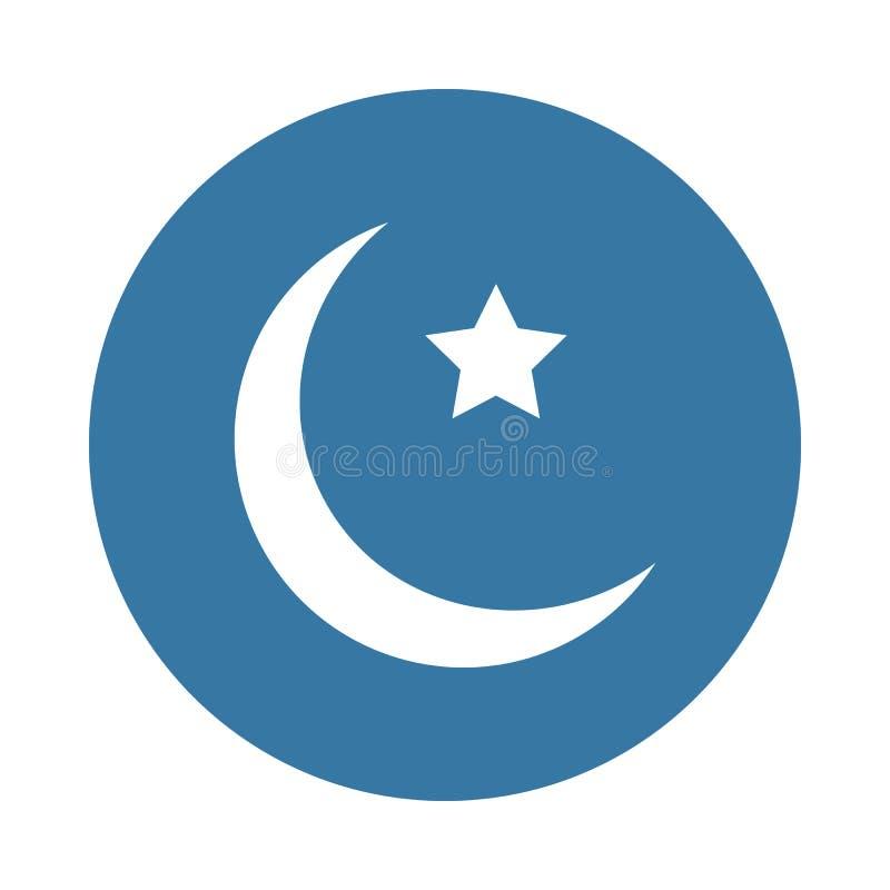 Icône de lune et d'étoile dans le style d'insigne illustration de vecteur