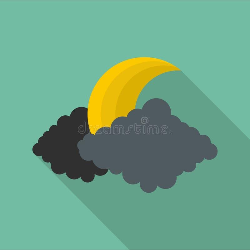 Icône de lune, style plat illustration de vecteur