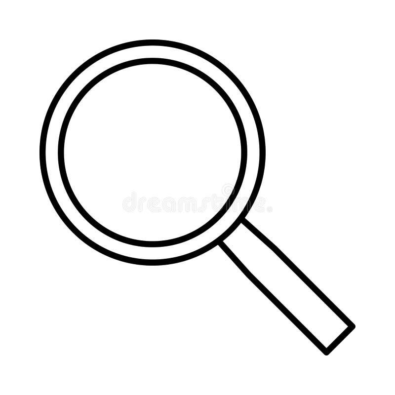 Icône de lupa de découverte de recherche ou illustration de logo illustration stock