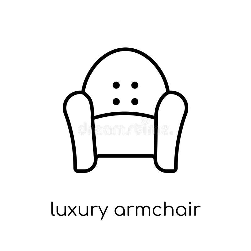 icône de luxe de fauteuil Vecteur linéaire plat moderne à la mode AR de luxe illustration de vecteur