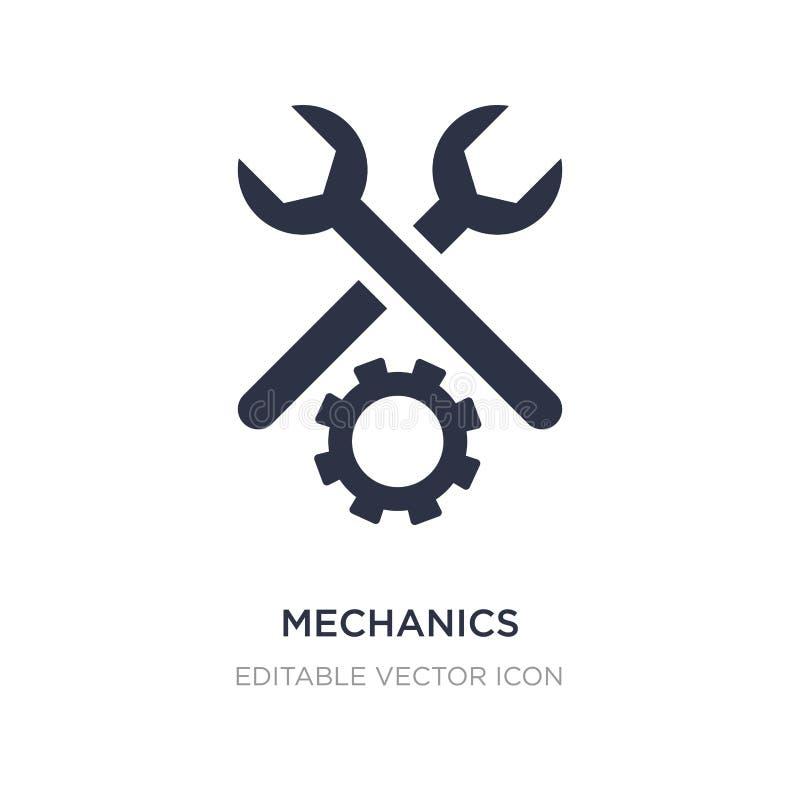 icône de mécanique sur le fond blanc Illustration simple d'élément de notion générale illustration stock