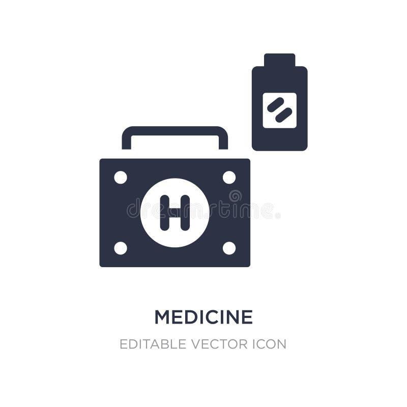 Icône de médecine sur le fond blanc Illustration simple d'élément de concept médical illustration stock