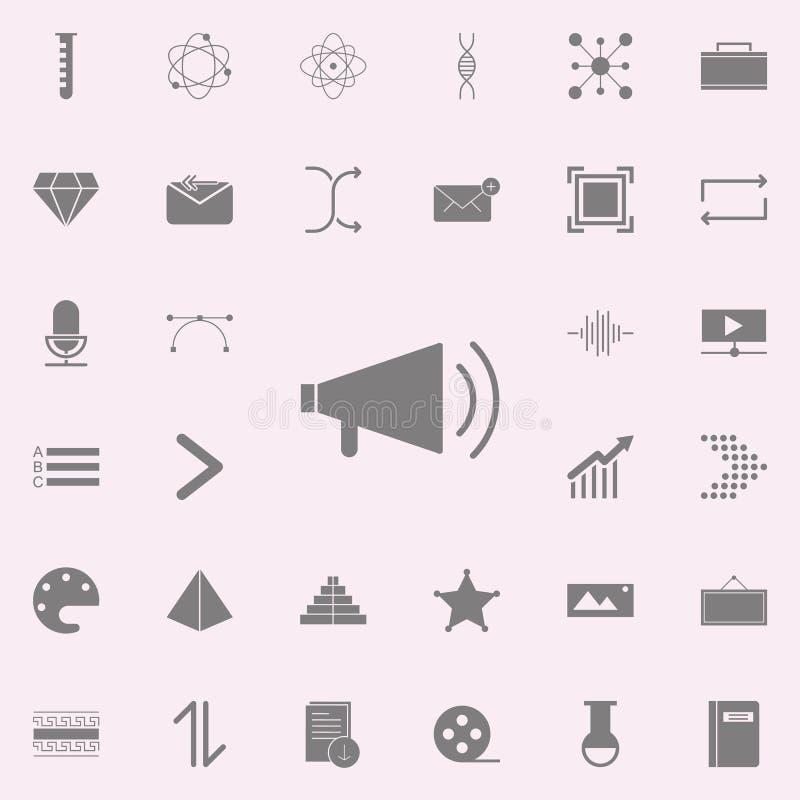 Icône de mégaphone ensemble universel d'icônes de Web pour le Web et le mobile illustration de vecteur