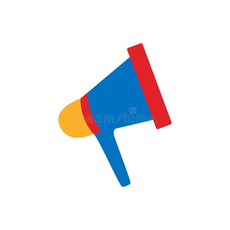 Icône de mégaphone Symbole d'embouchure Bouton de haut-parleur Illustration plate de vecteur illustration libre de droits