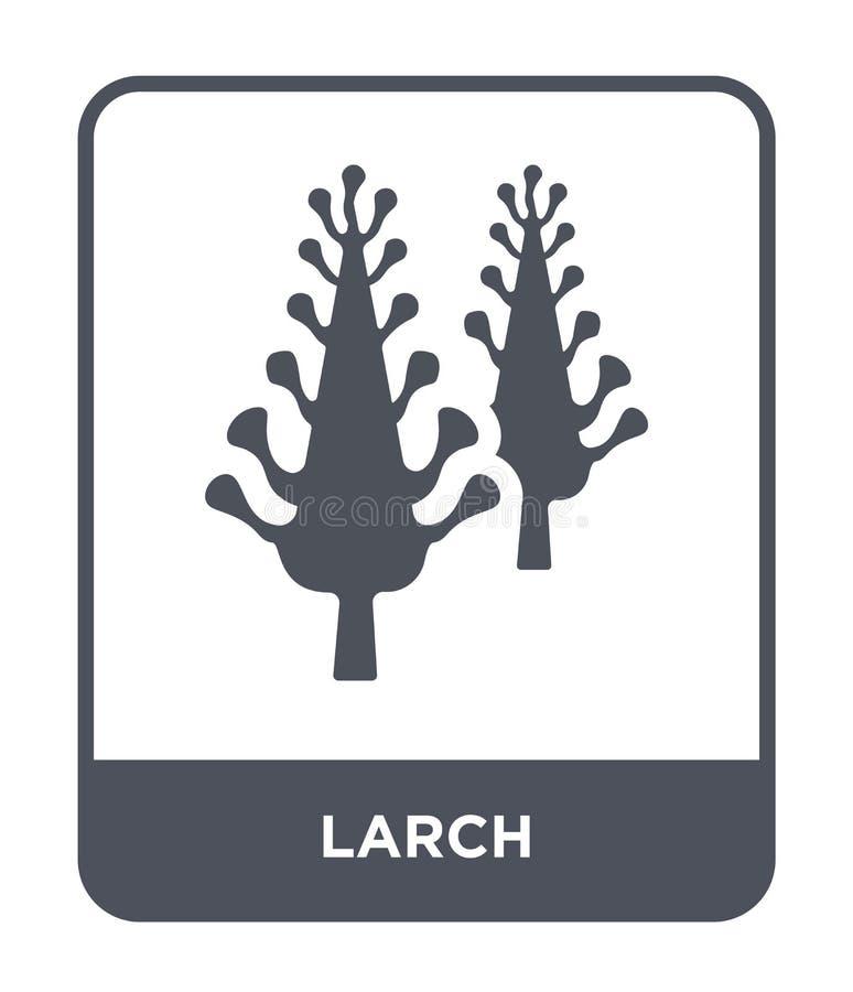 icône de mélèze dans le style à la mode de conception icône de mélèze d'isolement sur le fond blanc symbole plat simple et modern illustration stock