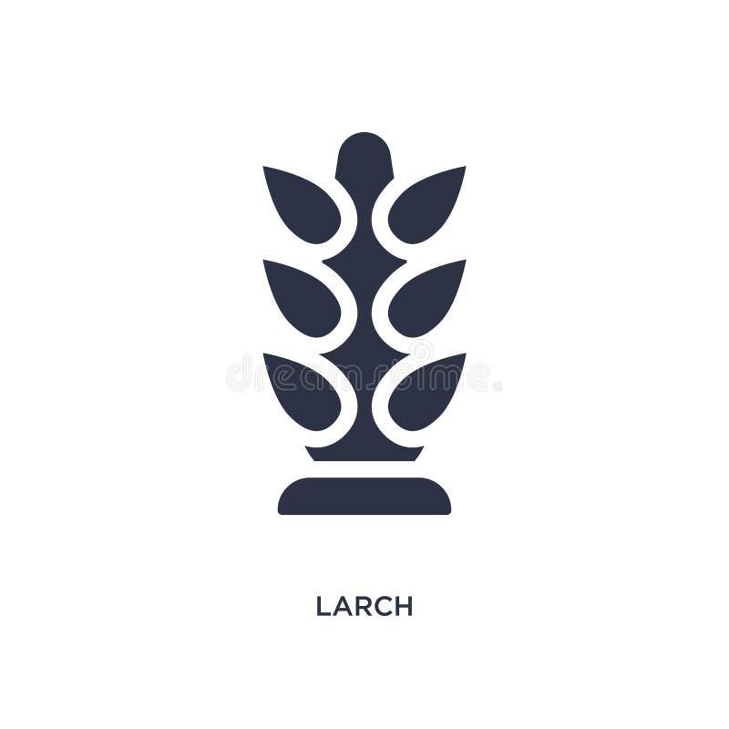 icône de mélèze sur le fond blanc Illustration simple d'élément de concept de nature illustration stock