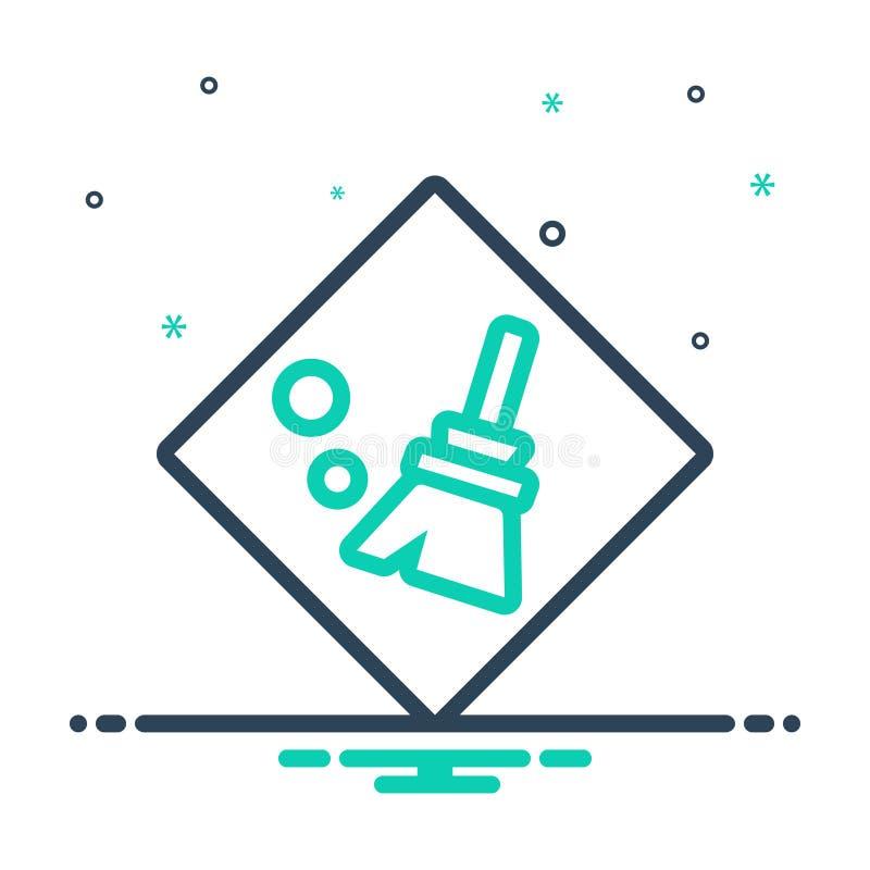 Icône de mélange pour Clear, Distinctif et net illustration stock