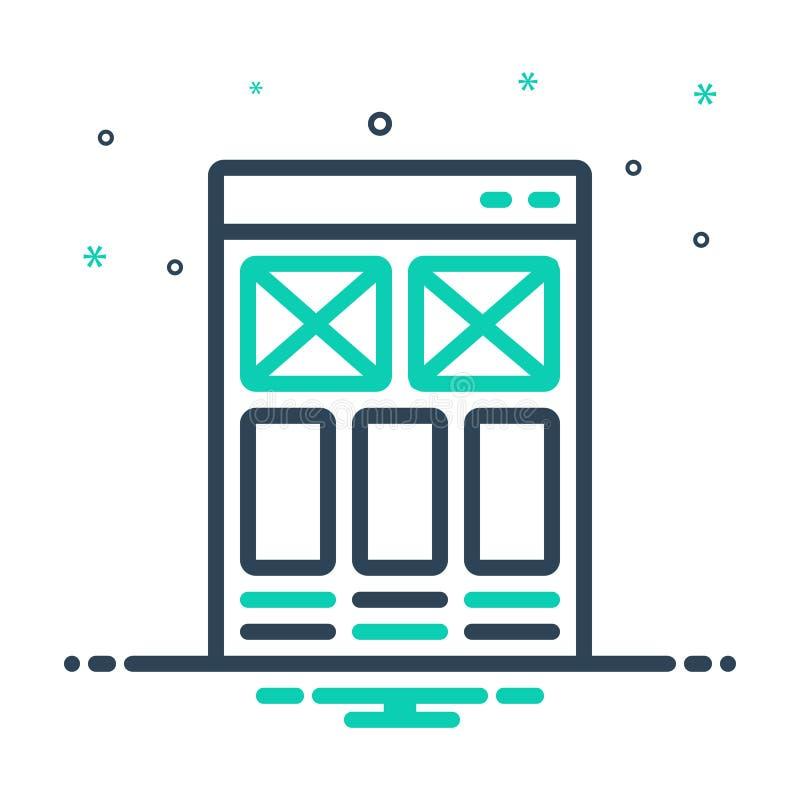 icône de mélange pour l'esquisse, la conception et la réactivité du site Web illustration stock