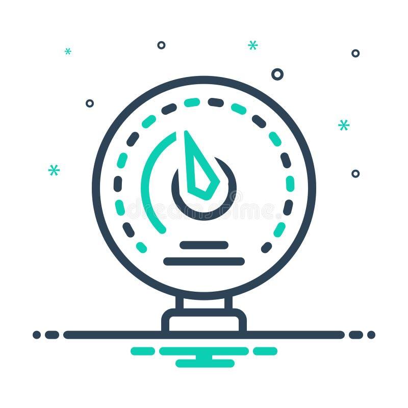 icône de mélange pour Manomètre, ammètre et analogique illustration libre de droits