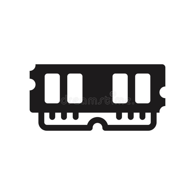 Icône de mémoire à accès sélectif  illustration de vecteur