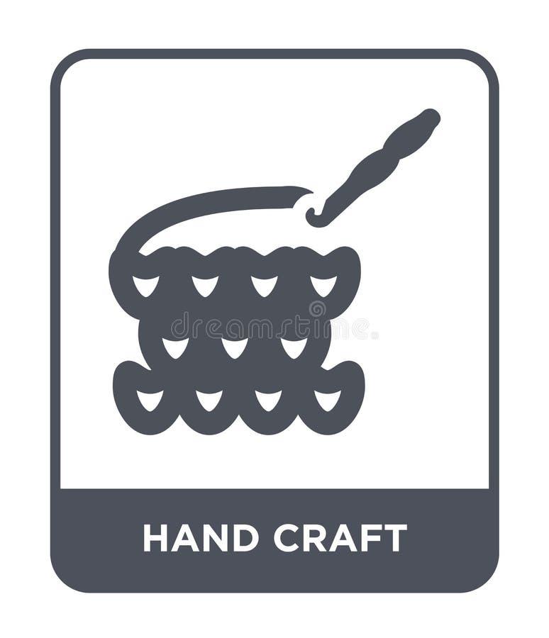 icône de métier de main dans le style à la mode de conception icône de métier de main d'isolement sur le fond blanc icône de vect illustration stock