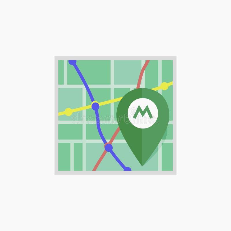 Icône de métro de vecteur Carte d'isolement illustration libre de droits