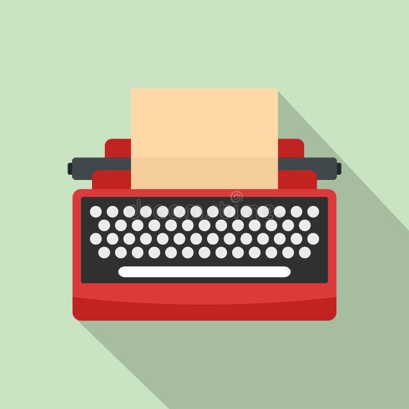 Icône de machine à écrire de la moitié du siècle, style plat illustration libre de droits