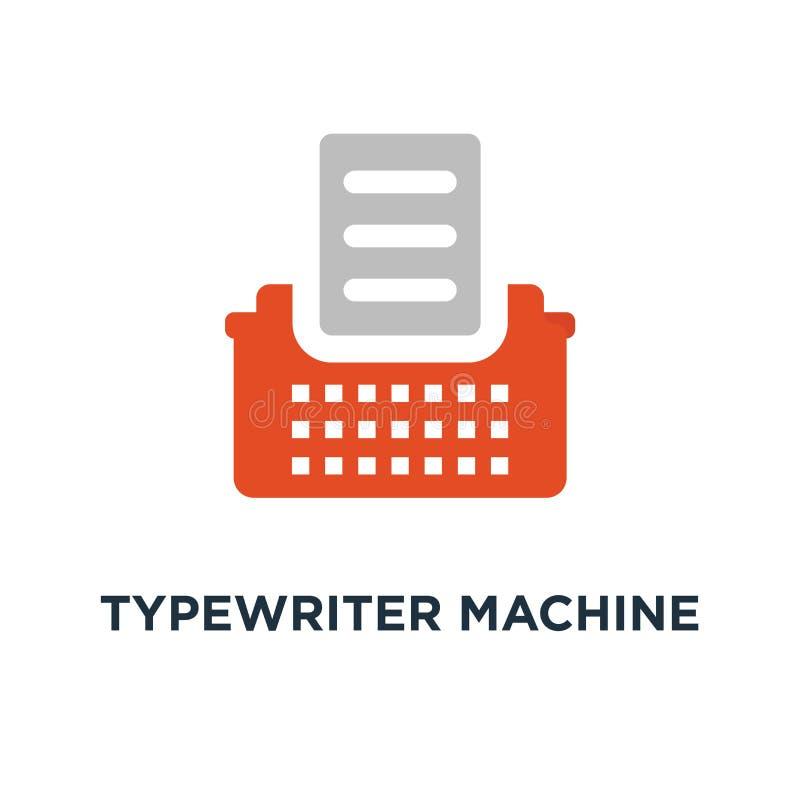 icône de machine de machine à écrire type desi de symbole de concept de machine de lettre illustration libre de droits
