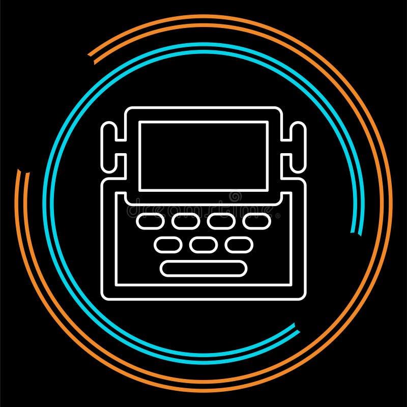 Icône de machine de machine à écrire - type machine de lettre illustration de vecteur