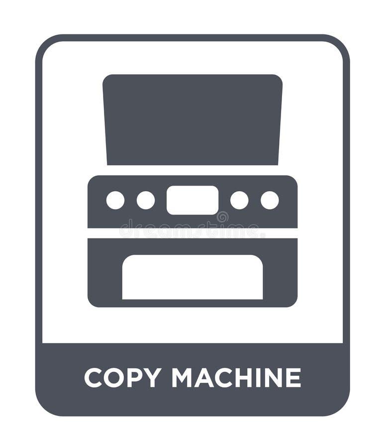 icône de machine de copie dans le style à la mode de conception icône de machine de copie d'isolement sur le fond blanc icône de  illustration de vecteur