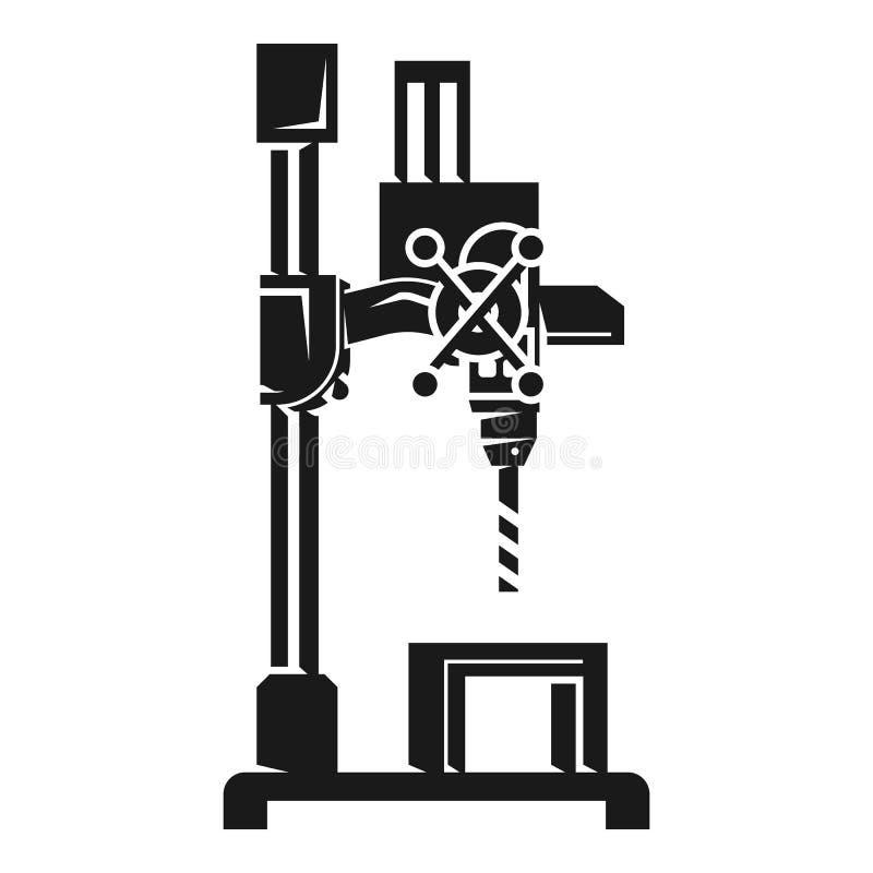 Icône de machine de perceuse de garage, style simple illustration stock