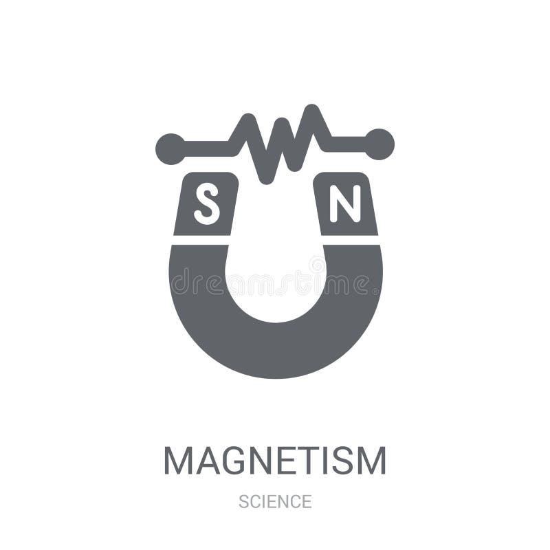 Icône de magnétisme Concept à la mode de logo de magnétisme sur le backgroun blanc illustration de vecteur