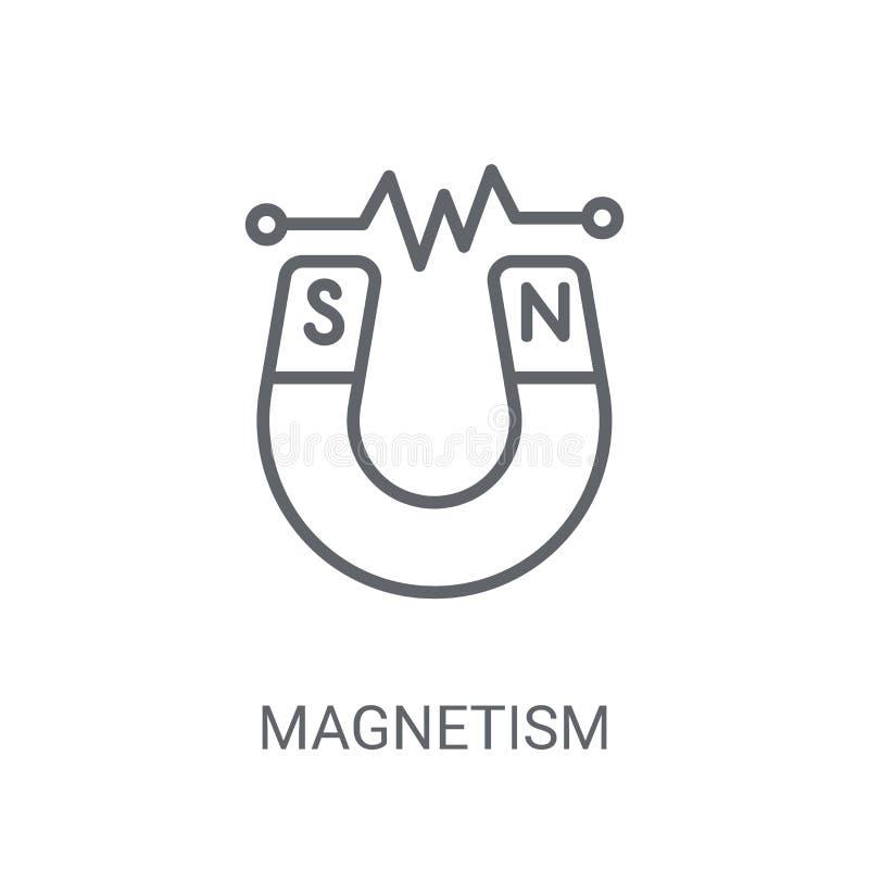 Icône de magnétisme Concept à la mode de logo de magnétisme sur le backgroun blanc illustration libre de droits