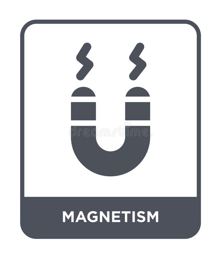 icône de magnétisme dans le style à la mode de conception icône de magnétisme d'isolement sur le fond blanc appartement simple et illustration de vecteur
