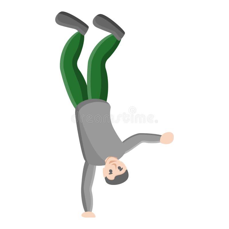 Icône de main de la danse de coupure une, style de bande dessinée illustration de vecteur