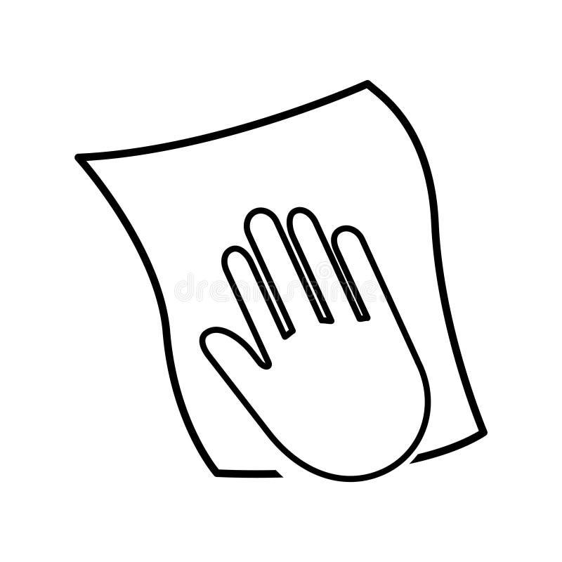 Icône de main de nettoyage, illustration de vecteur illustration stock