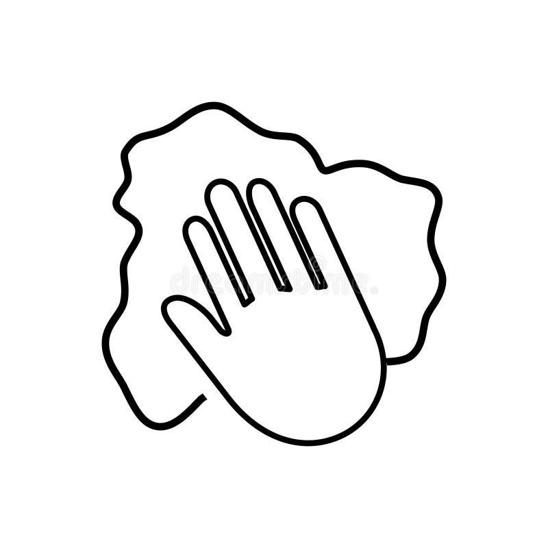 Icône de main de nettoyage, illustration de vecteur illustration de vecteur
