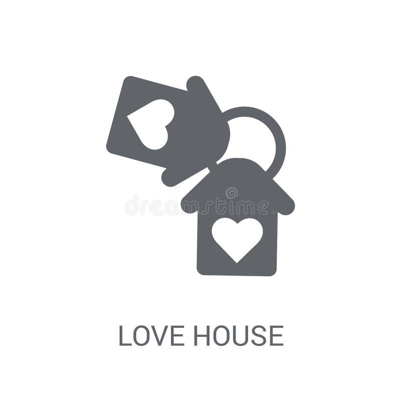 Icône de maison d'amour  illustration de vecteur