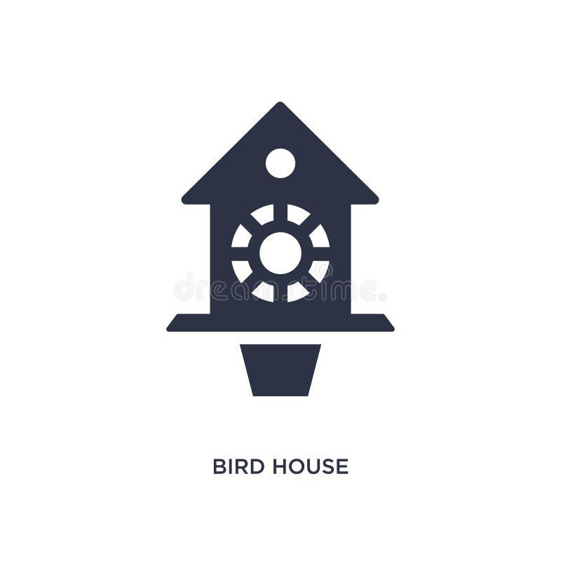 Icône de maison d'oiseau sur le fond blanc Illustration simple d'élément de cultiver le concept illustration stock