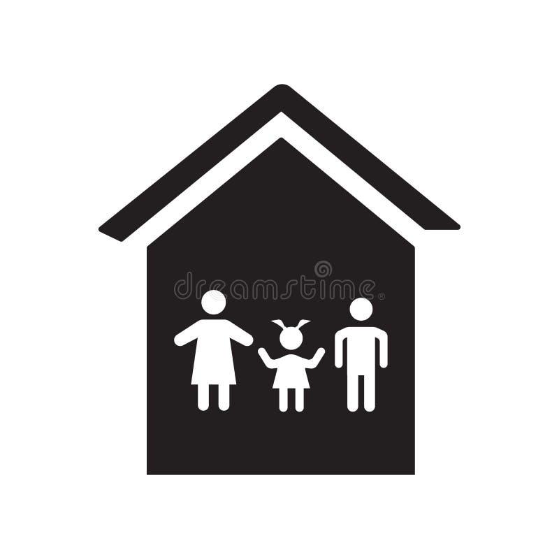 Icône de maison de famille  illustration libre de droits