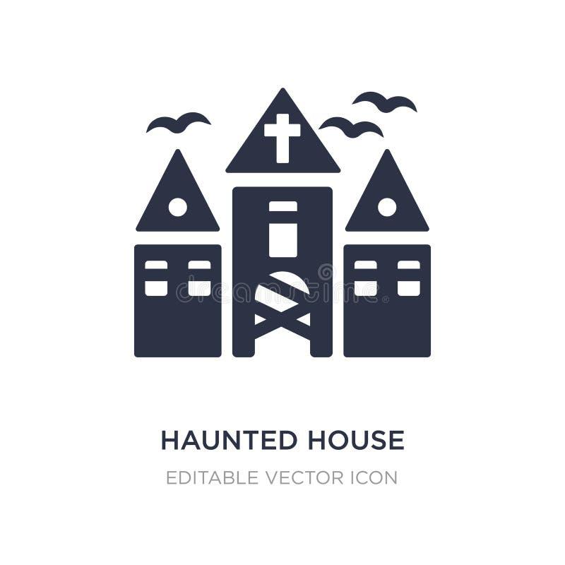 icône de maison hantée sur le fond blanc Illustration simple d'élément de concept de Halloween illustration stock