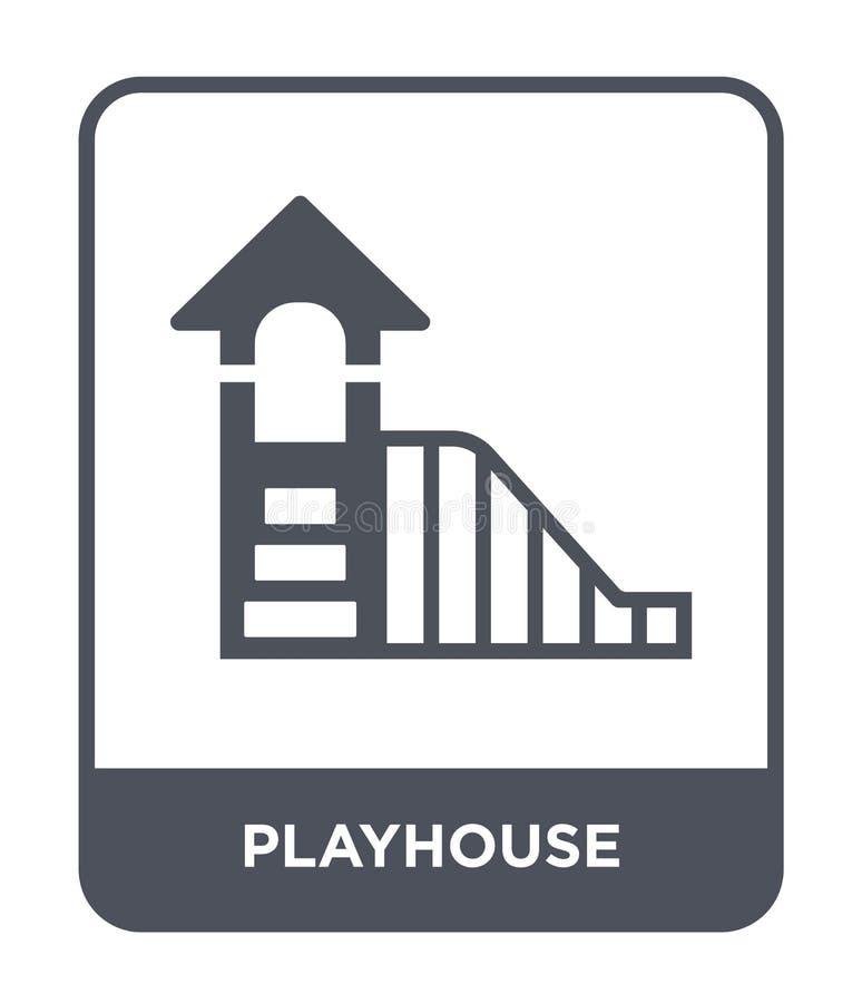 icône de maison de théâtre dans le style à la mode de conception icône de maison de théâtre d'isolement sur le fond blanc apparte illustration stock