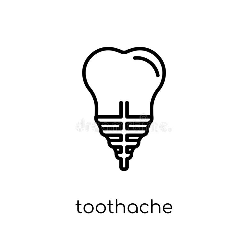 icône de mal de dents  illustration stock