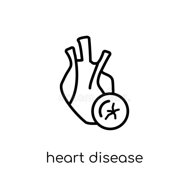 Icône de maladie cardiaque  illustration de vecteur