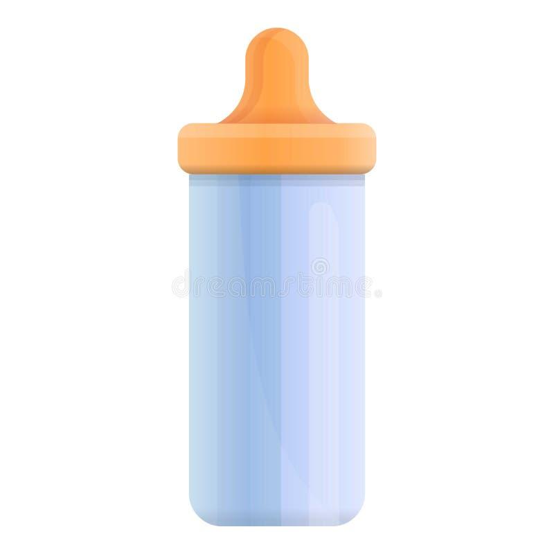 Icône de mamelon de lait de bébé, style de bande dessinée illustration stock
