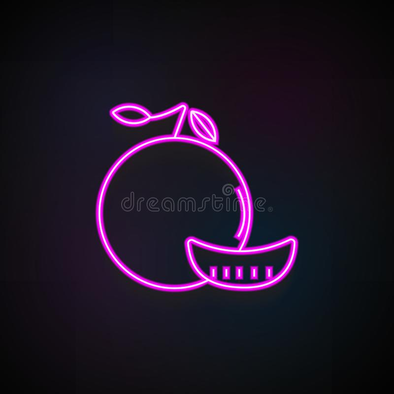 icône de mandarine Élément des icônes de fruit pour les apps mobiles de concept et de Web L'icône au néon de mandarine peut être  illustration de vecteur