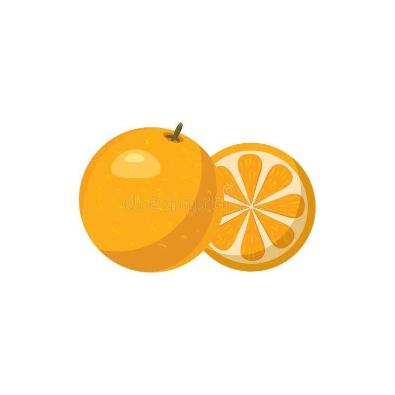 Icône de mandarine dans le style de bande dessinée illustration libre de droits