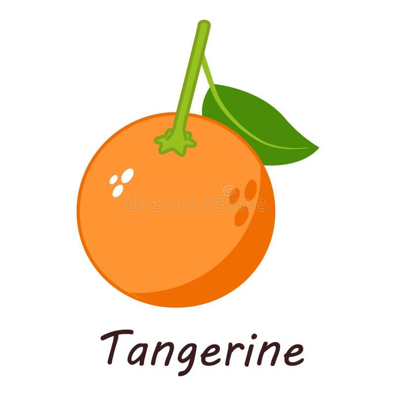 Icône de mandarine, style isométrique illustration libre de droits