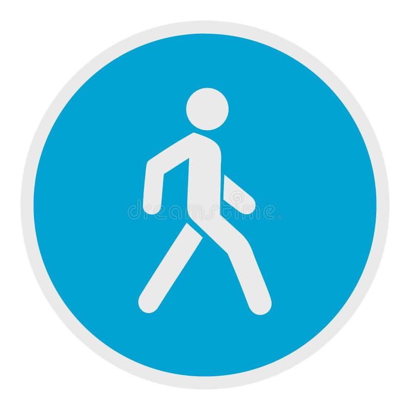 Icône de marche d'homme, style plat illustration libre de droits