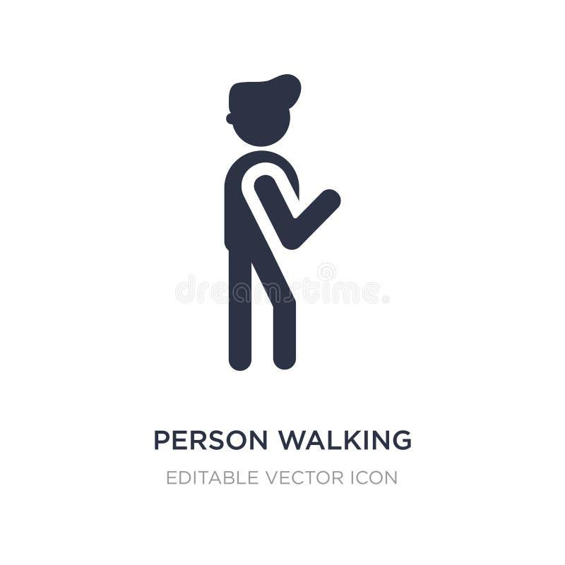 icône de marche de personne sur le fond blanc Illustration simple d'élément de concept de personnes illustration de vecteur